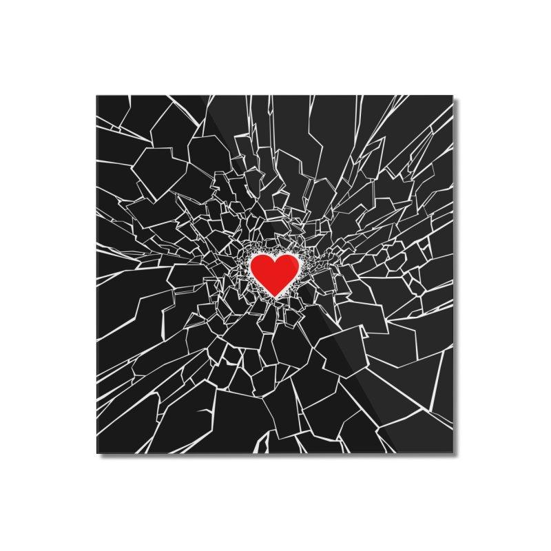 Heartbreaker III Black Home Mounted Acrylic Print by Grandio Design Artist Shop