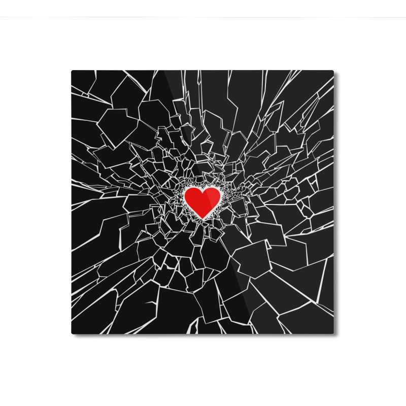 Heartbreaker III Black Home Mounted Aluminum Print by Grandio Design Artist Shop