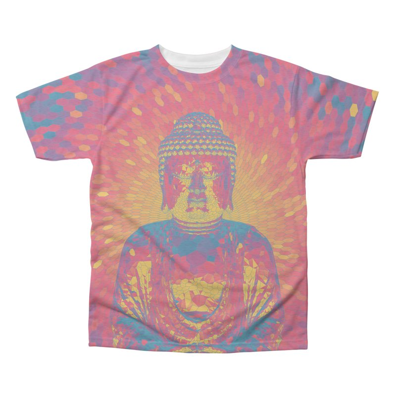 Crystal Buddha Men's Triblend All Over Print by Grandio Design Artist Shop