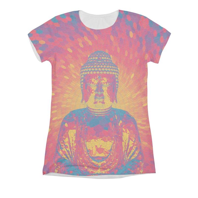 Crystal Buddha Women's Triblend All Over Print by Grandio Design Artist Shop