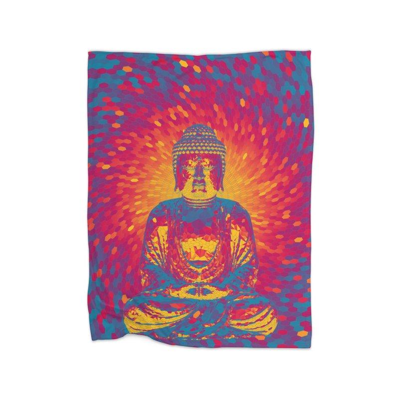 Crystal Buddha Home Blanket by Grandio Design Artist Shop