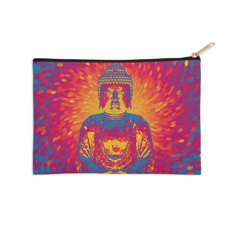 Crystal Buddha Accessories Zip Pouch by Grandio Design Artist Shop
