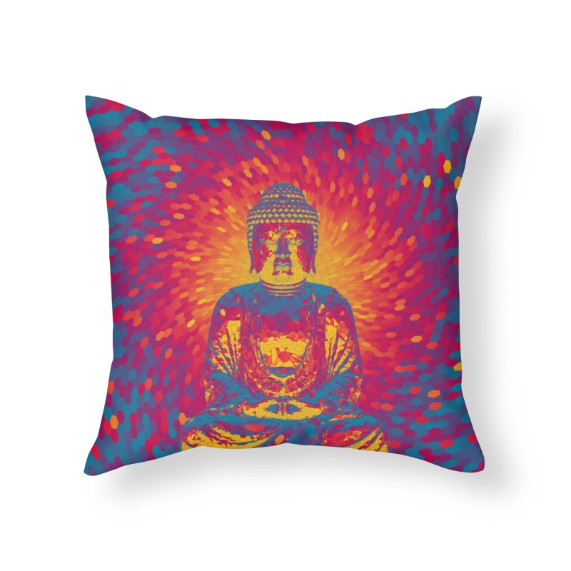 Crystal Buddha Home Throw Pillow by Grandio Design Artist Shop