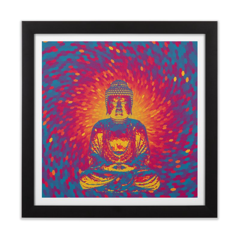 Crystal Buddha Home Framed Fine Art Print by Grandio Design Artist Shop