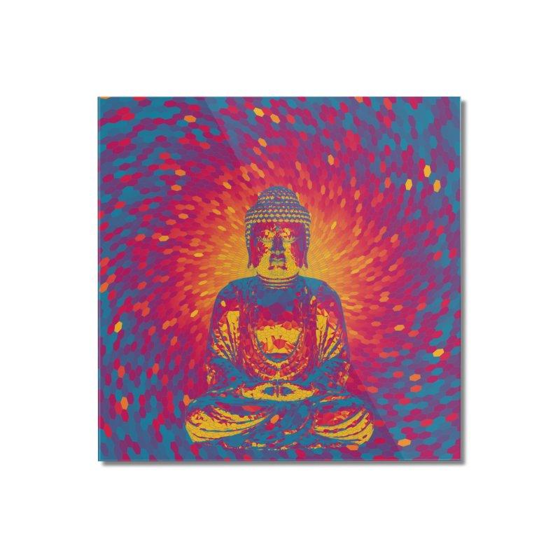 Crystal Buddha Home Mounted Acrylic Print by Grandio Design Artist Shop