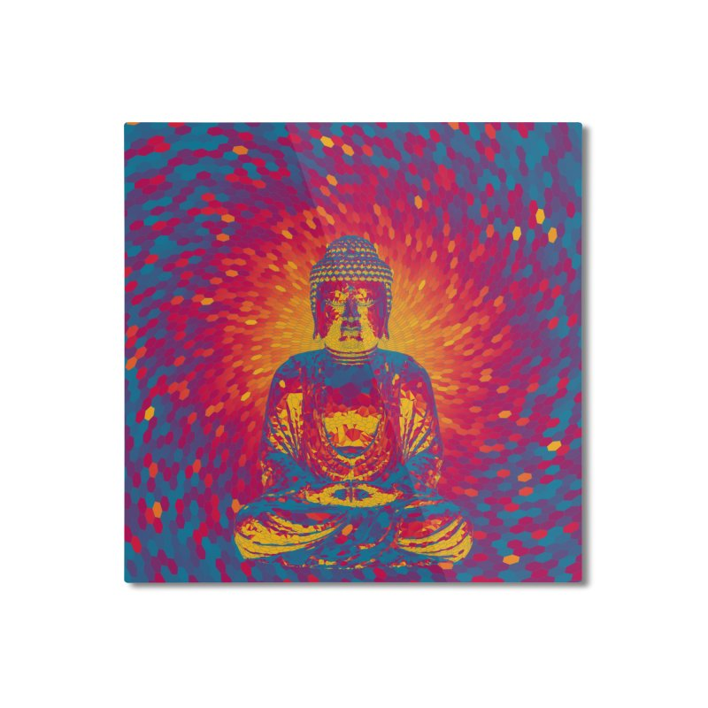 Crystal Buddha Home Mounted Aluminum Print by Grandio Design Artist Shop