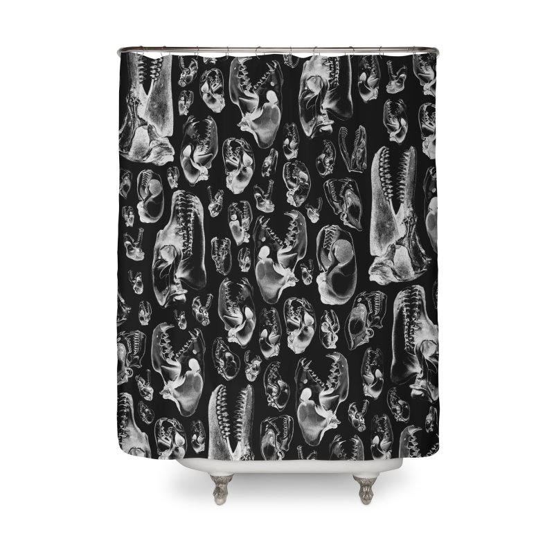 Carnivore B&W II Home Shower Curtain by Grandio Design Artist Shop