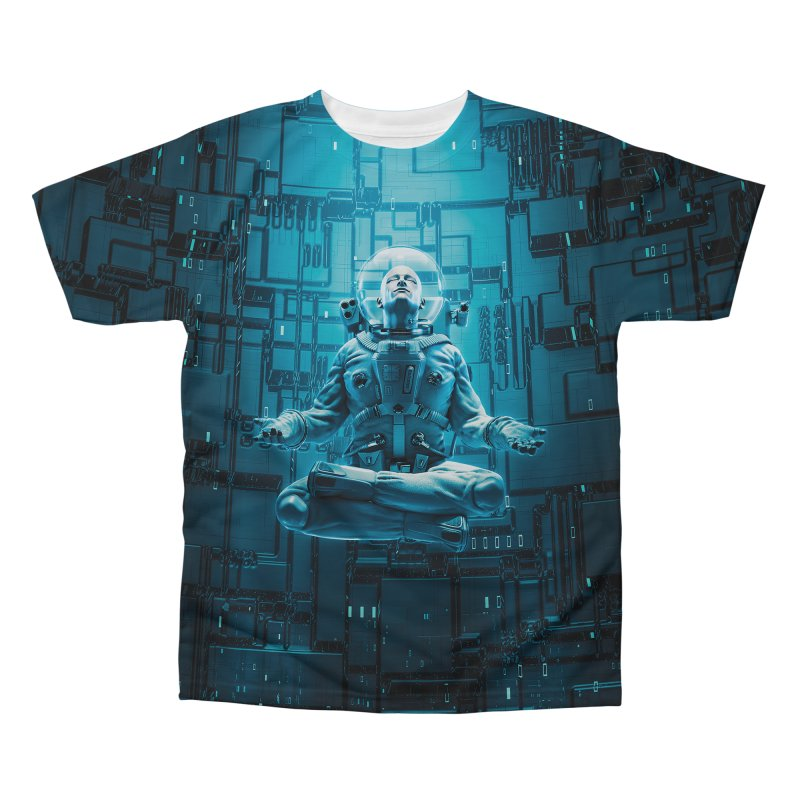 Astro Lotus Men's Regular All Over Print by Grandio Design Artist Shop