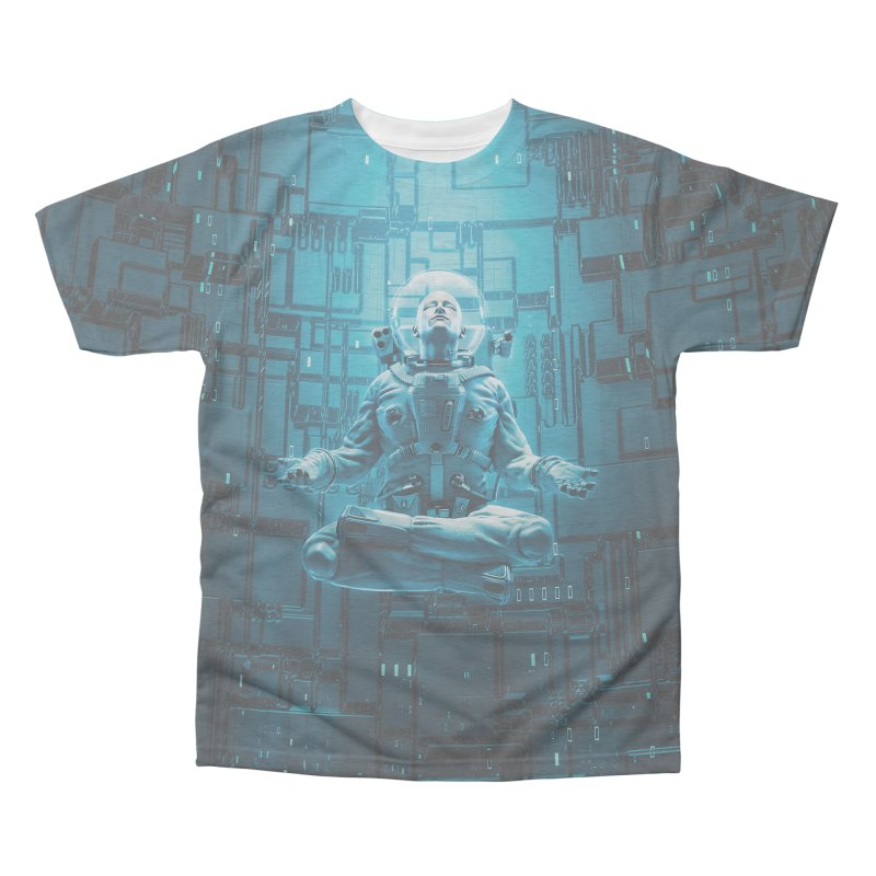Astro Lotus Men's Triblend All Over Print by Grandio Design Artist Shop