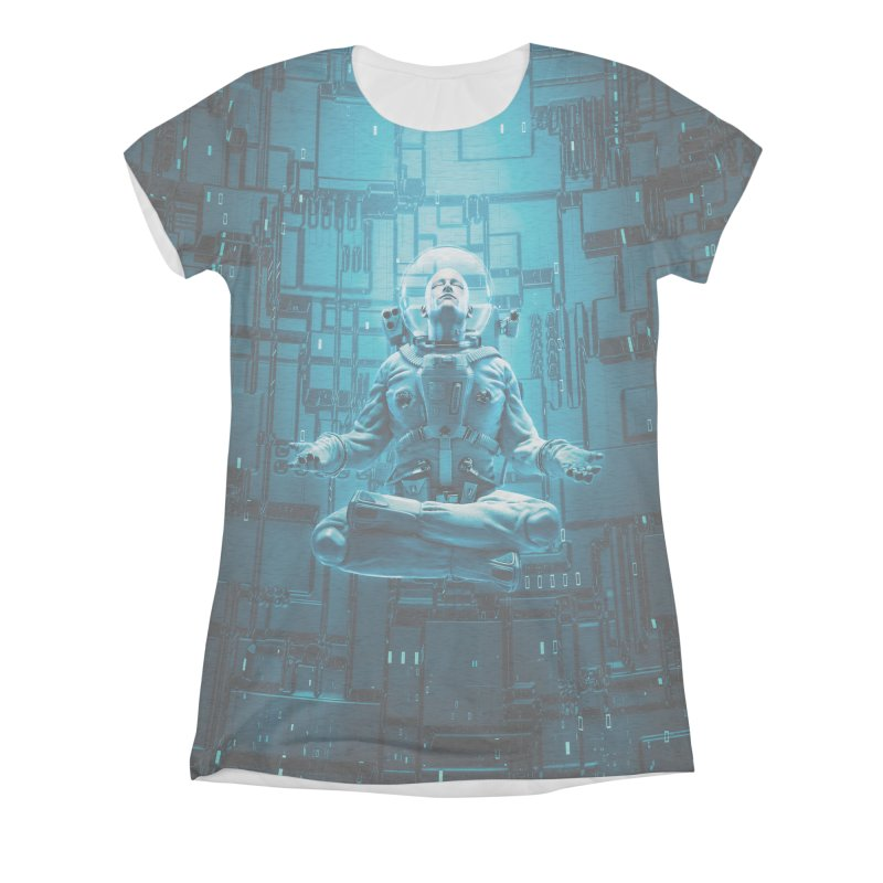 Astro Lotus Women's All-Over Print Triblend T-Shirt by Grandio Design Artist Shop