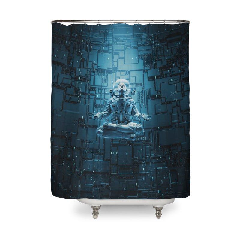 Astro Lotus Home Shower Curtain by Grandio Design Artist Shop