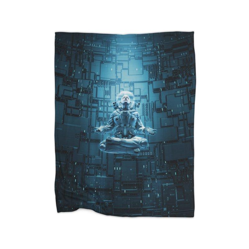 Astro Lotus Home Blanket by Grandio Design Artist Shop