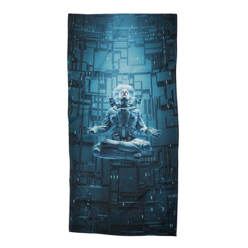 Astro Lotus Accessories Beach Towel by Grandio Design Artist Shop