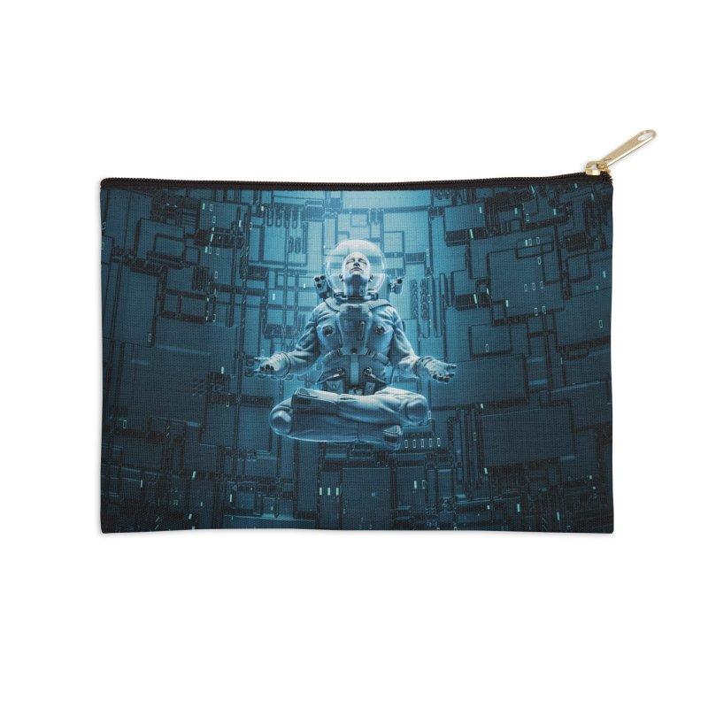 Astro Lotus Accessories Zip Pouch by Grandio Design Artist Shop