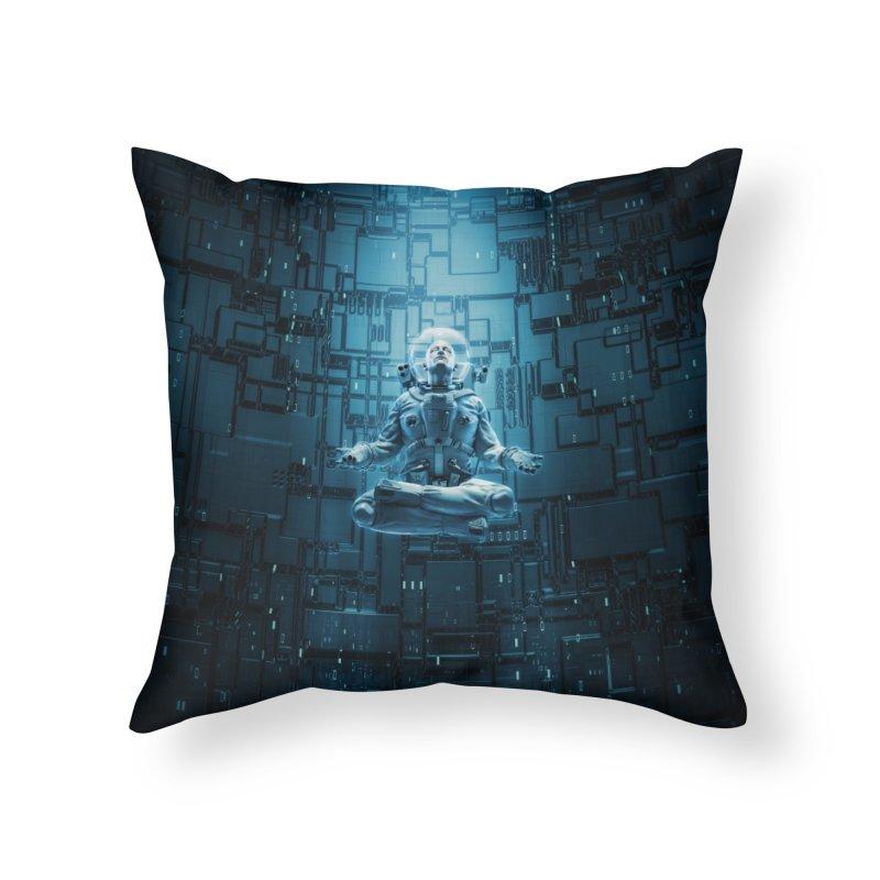 Astro Lotus Home Throw Pillow by Grandio Design Artist Shop