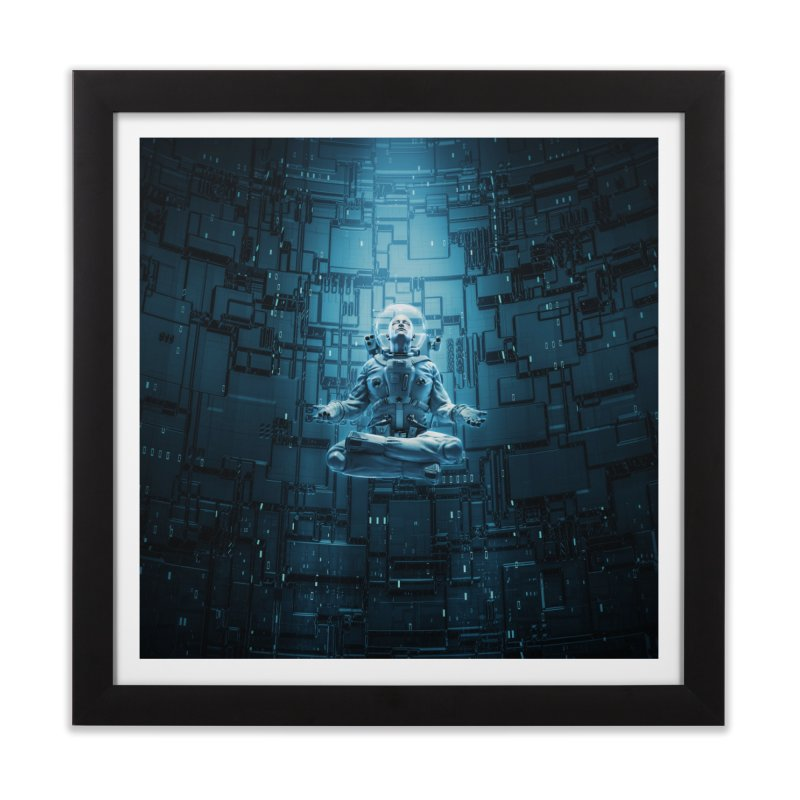 Astro Lotus Home Framed Fine Art Print by Grandio Design Artist Shop