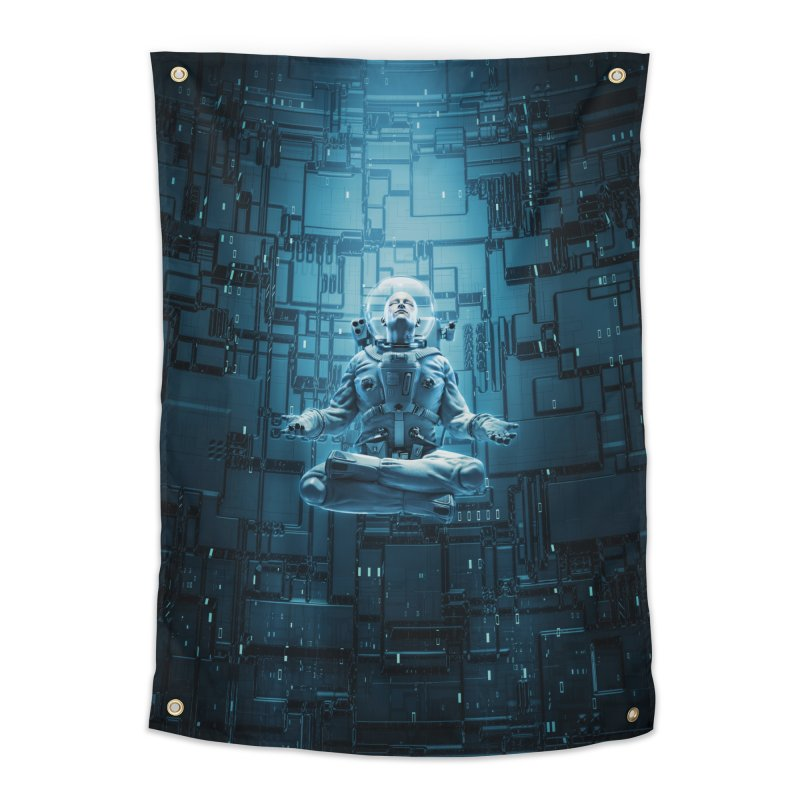 Astro Lotus Home Tapestry by Grandio Design Artist Shop