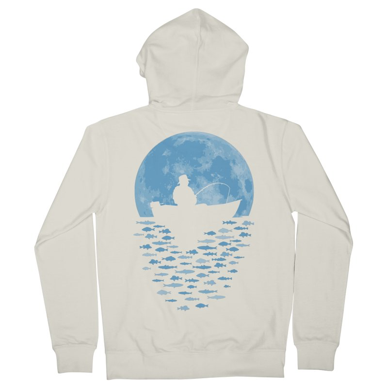 Hooked by Moonlight Men's Zip-Up Hoody by Grandio Design Artist Shop