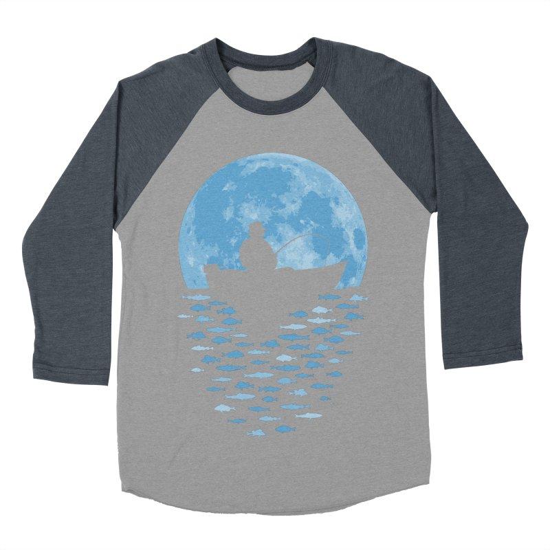 Hooked by Moonlight Men's Baseball Triblend T-Shirt by Grandio Design Artist Shop