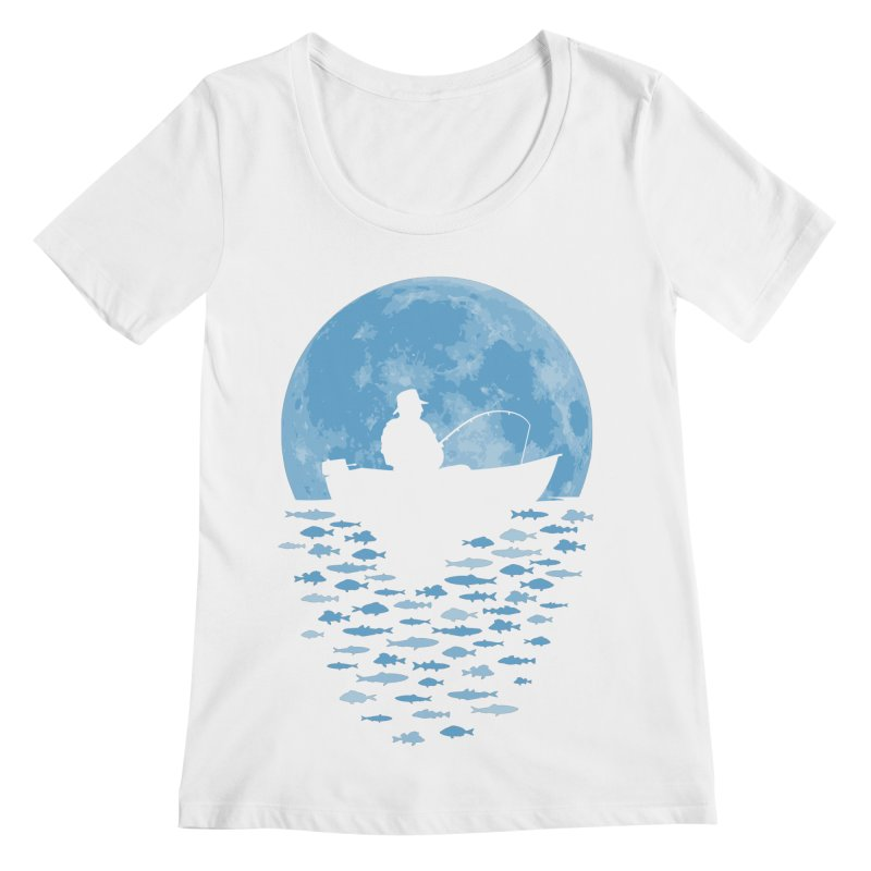Hooked by Moonlight Women's Scoopneck by Grandio Design Artist Shop
