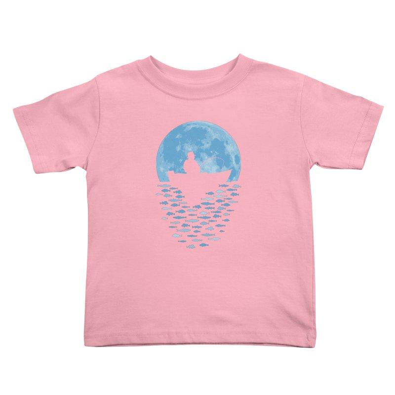 Hooked by Moonlight Kids Toddler T-Shirt by Grandio Design Artist Shop