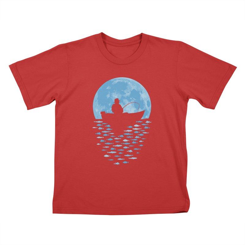 Hooked by Moonlight Kids T-Shirt by Grandio Design Artist Shop