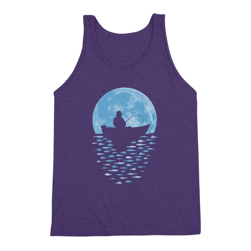 Hooked by Moonlight Men's Triblend Tank by Grandio Design Artist Shop