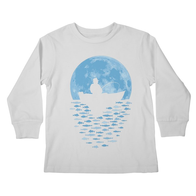 Hooked by Moonlight Kids Longsleeve T-Shirt by Grandio Design Artist Shop