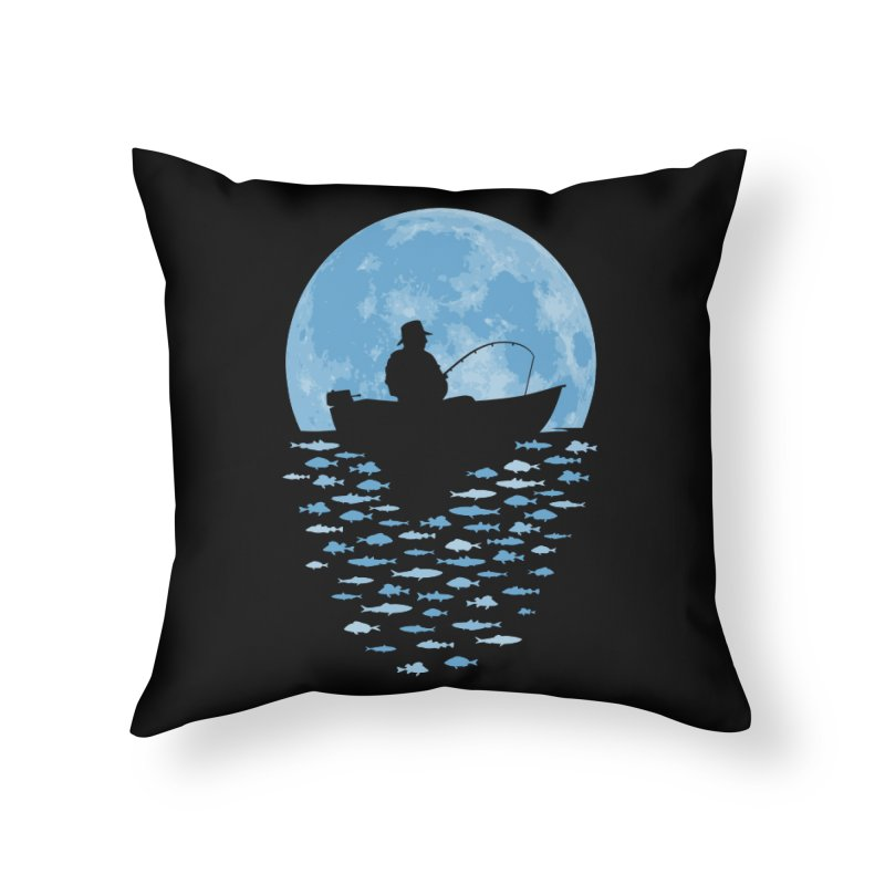 Hooked by Moonlight Home Throw Pillow by Grandio Design Artist Shop