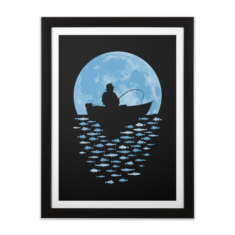 Hooked by Moonlight Home Framed Fine Art Print by Grandio Design Artist Shop