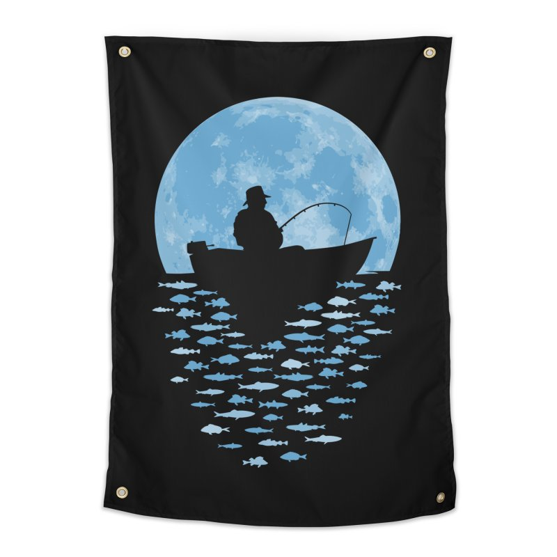 Hooked by Moonlight Home Tapestry by Grandio Design Artist Shop