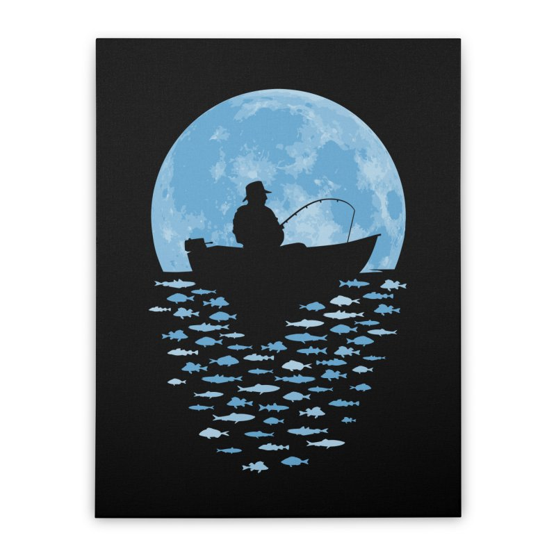 Hooked by Moonlight Home Stretched Canvas by Grandio Design Artist Shop