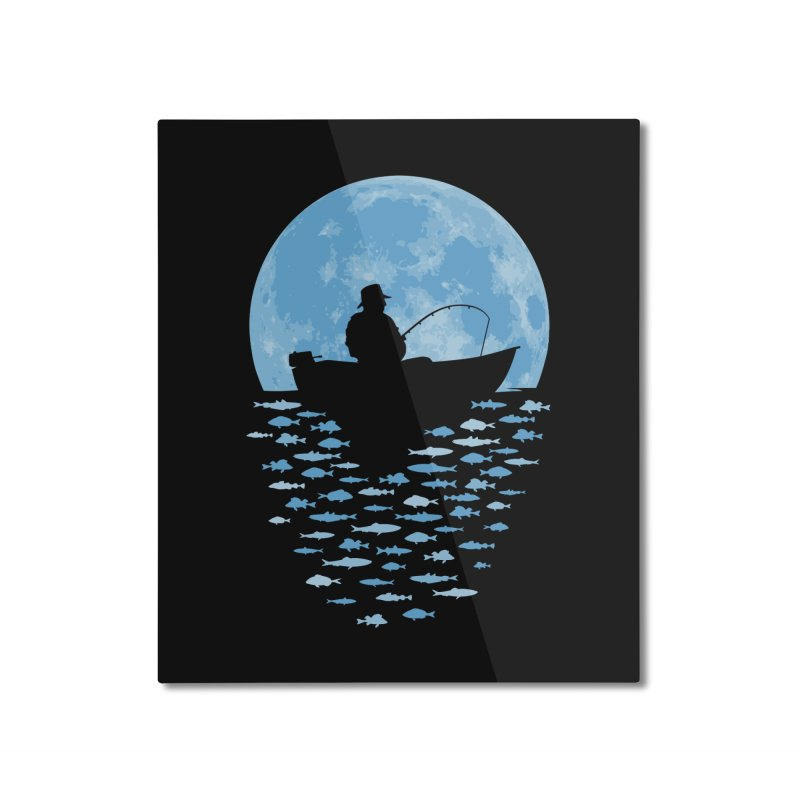 Hooked by Moonlight Home Mounted Aluminum Print by Grandio Design Artist Shop