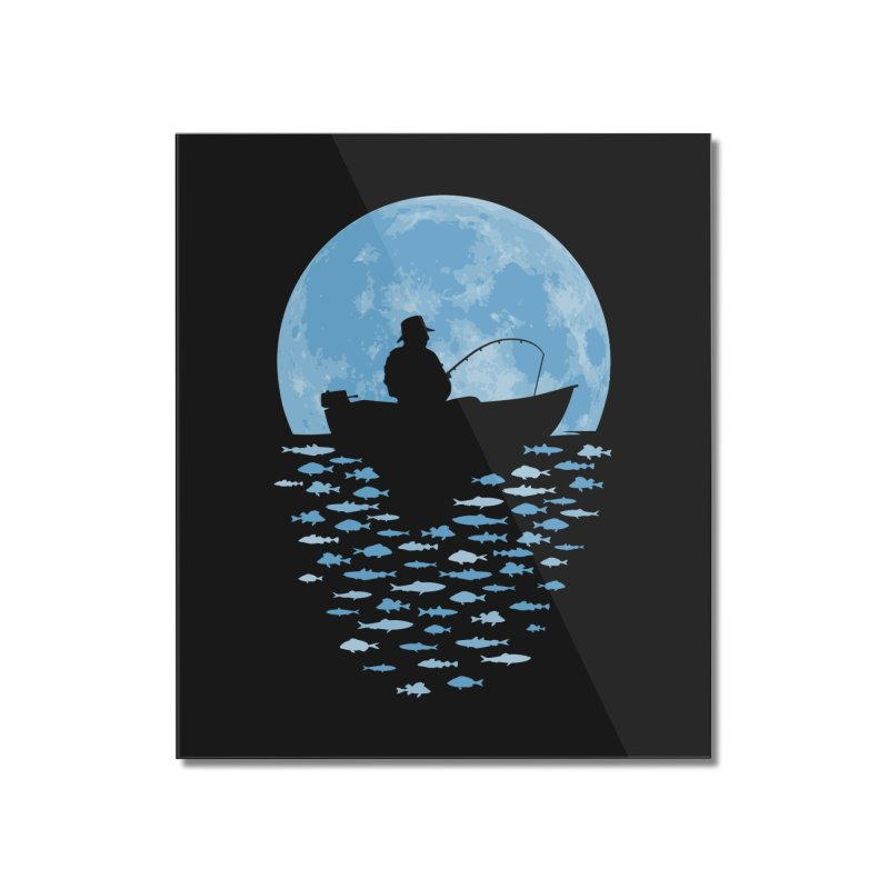 Hooked by Moonlight Home Mounted Acrylic Print by Grandio Design Artist Shop