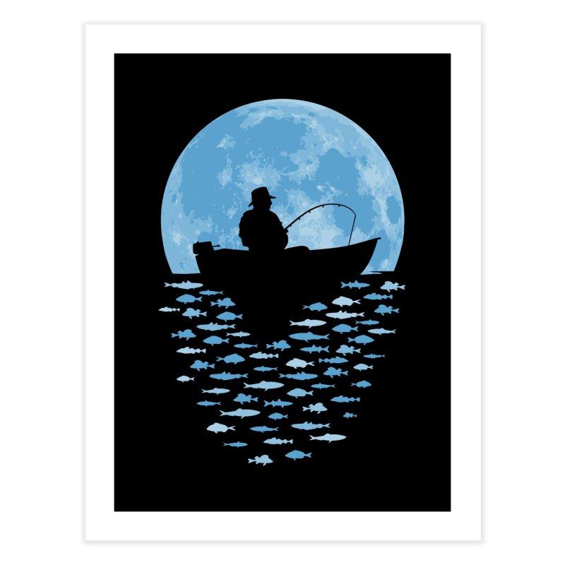 Hooked by Moonlight Home Fine Art Print by Grandio Design Artist Shop