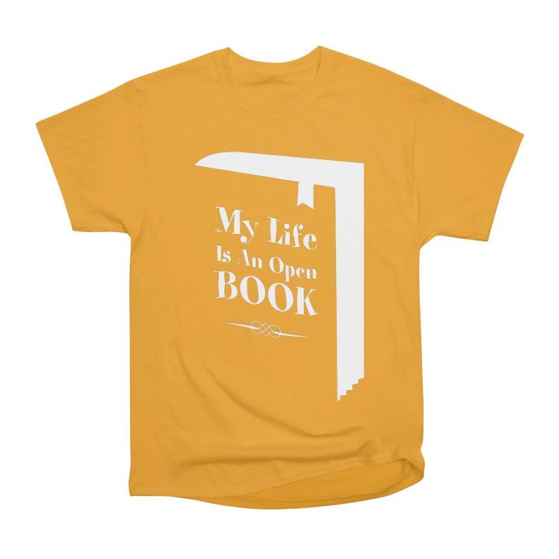 My Life Is An Open Book Men's Heavyweight T-Shirt by Grandio Design Artist Shop