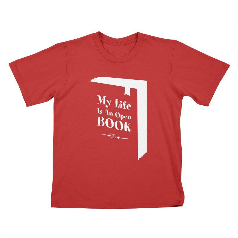 My Life Is An Open Book Kids T-Shirt by Grandio Design Artist Shop