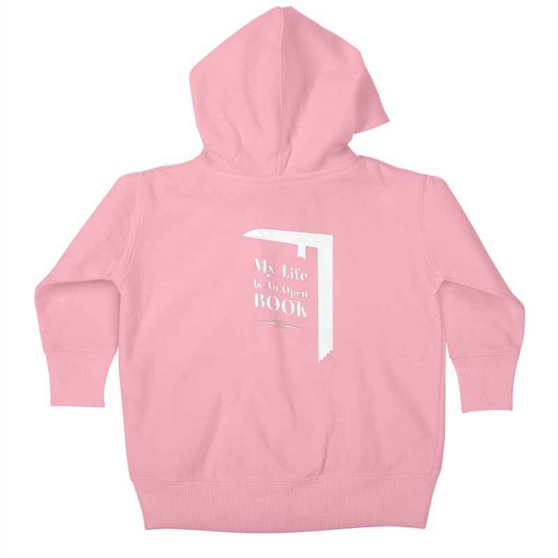 My Life Is An Open Book Kids Baby Zip-Up Hoody by Grandio Design Artist Shop