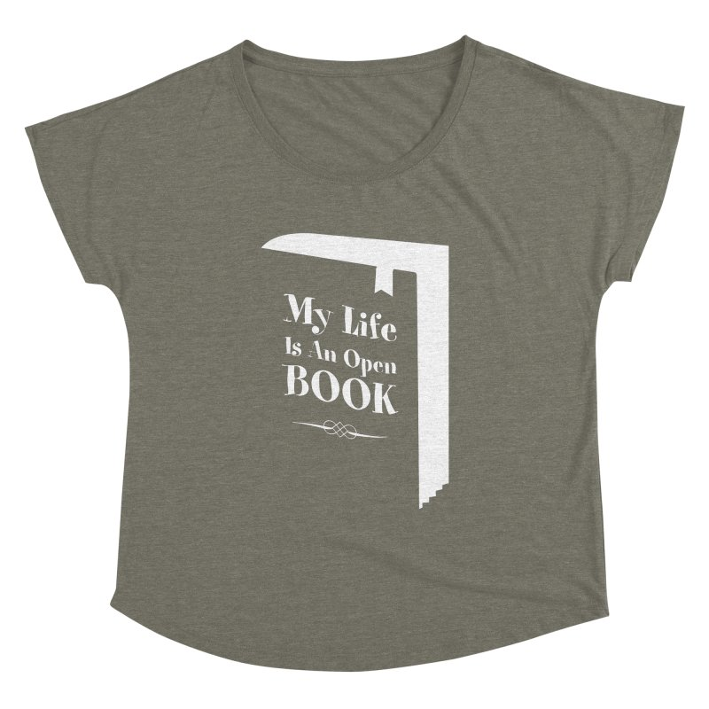 My Life Is An Open Book Women's Dolman by Grandio Design Artist Shop