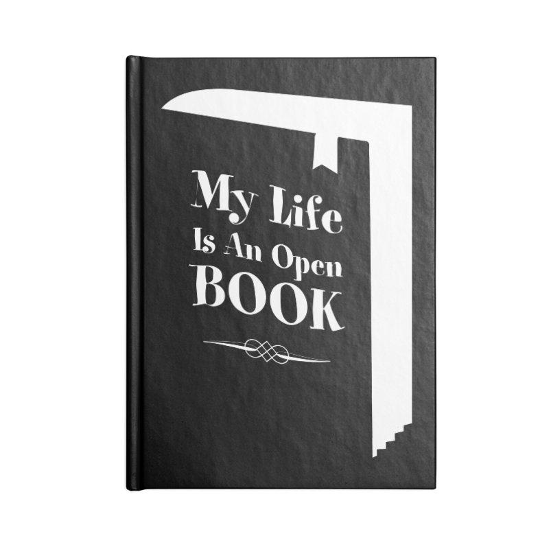 My Life Is An Open Book Accessories Notebook by Grandio Design Artist Shop