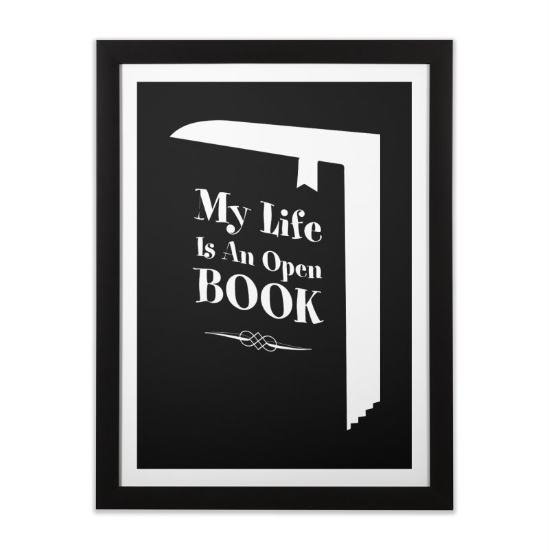 My Life Is An Open Book Home Framed Fine Art Print by Grandio Design Artist Shop