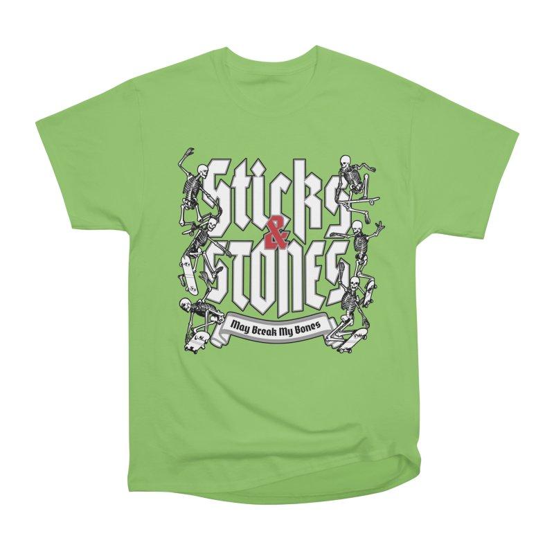 Sticks and Stones Men's Heavyweight T-Shirt by Grandio Design Artist Shop