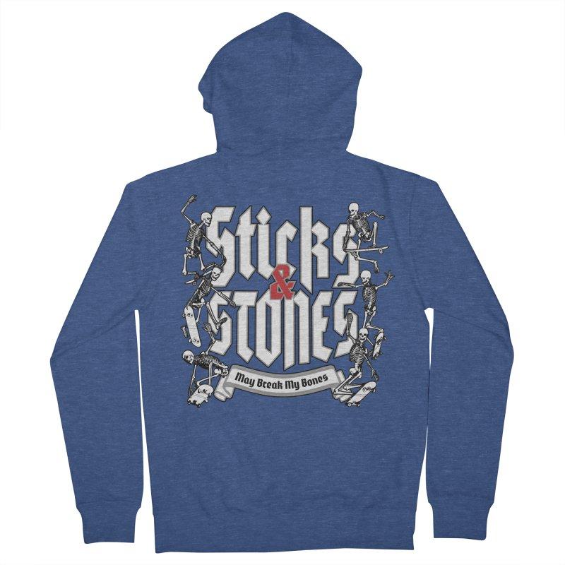 Sticks and Stones Women's Zip-Up Hoody by Grandio Design Artist Shop