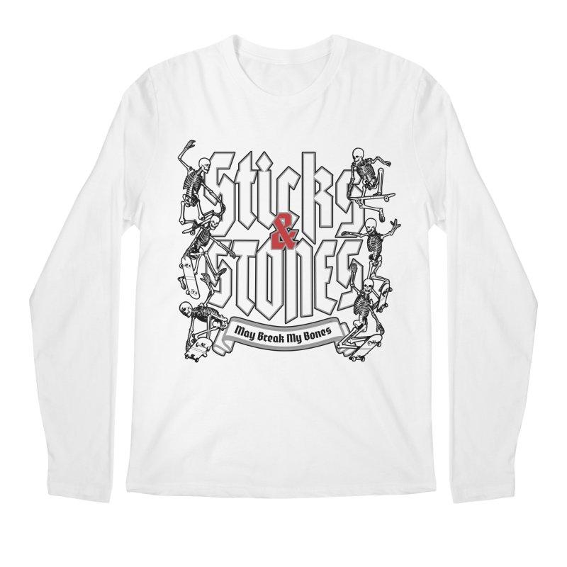 Sticks and Stones Men's Longsleeve T-Shirt by Grandio Design Artist Shop