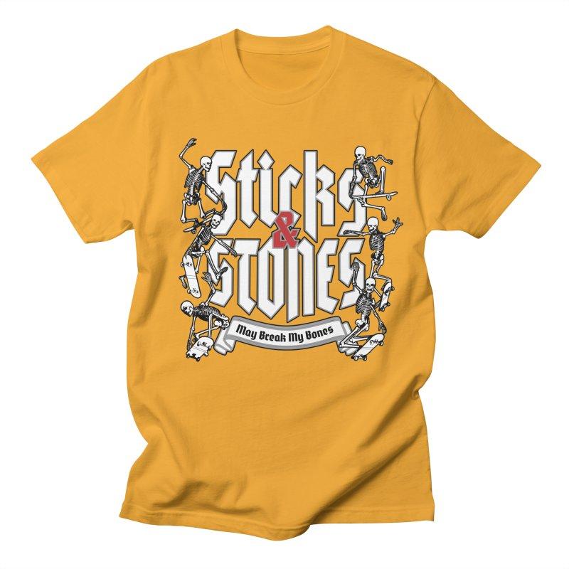 Sticks and Stones Men's T-Shirt by Grandio Design Artist Shop