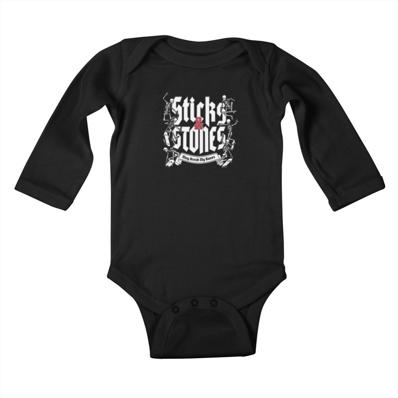 Sticks and Stones Kids Baby Longsleeve Bodysuit by Grandio Design Artist Shop