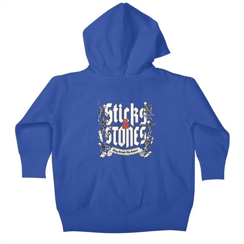 Sticks and Stones Kids Baby Zip-Up Hoody by Grandio Design Artist Shop