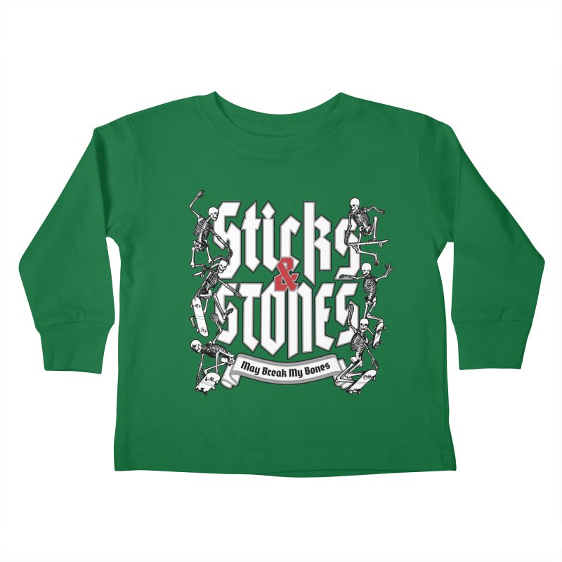 Sticks and Stones Kids Toddler Longsleeve T-Shirt by Grandio Design Artist Shop