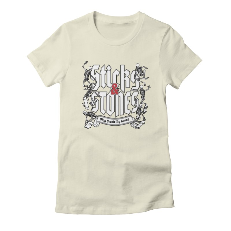 Sticks and Stones Women's Fitted T-Shirt by Grandio Design Artist Shop