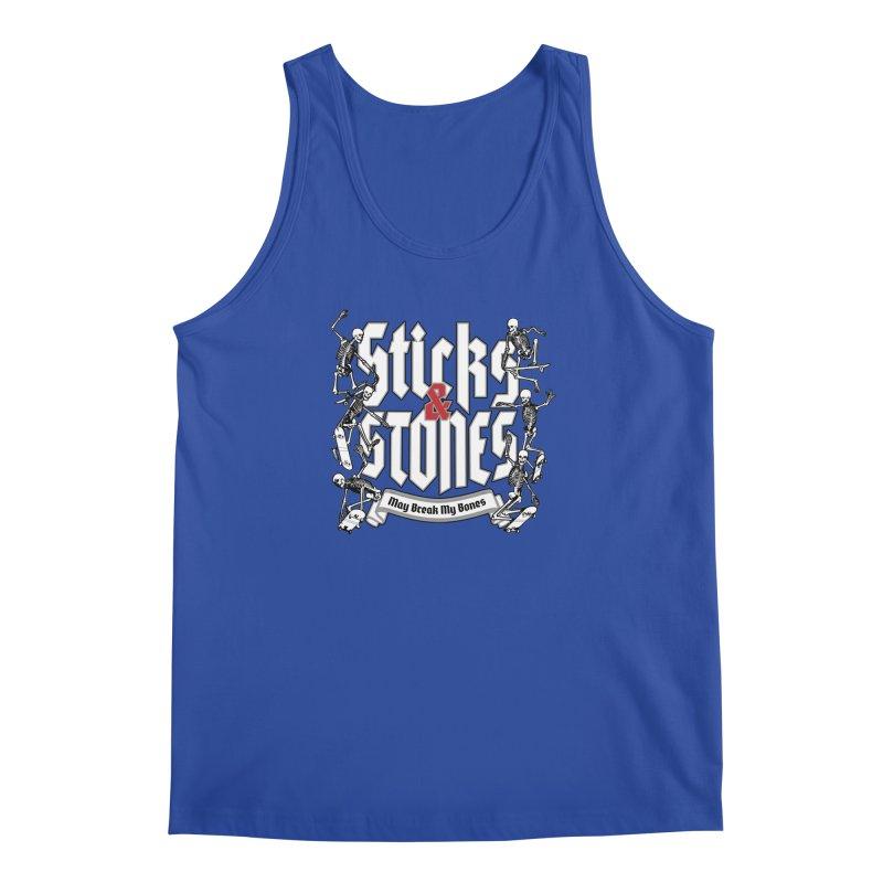 Sticks and Stones Men's Tank by Grandio Design Artist Shop